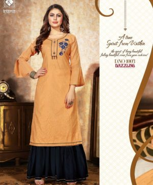 KIANA DAZZLING D 1003 KURTI WITH SHARARA BOTTOM