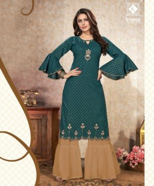 KIANA DAZZLING D 1004 KURTI WITH SHARARA BOTTOM