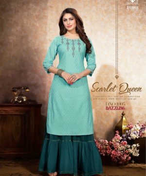 KIANA DAZZLING D 1005 KURTI WITH SHARARA BOTTOM