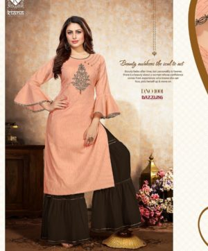 KIANA DAZZLING D 1001 KURTI WITH SHARARA BOTTOM