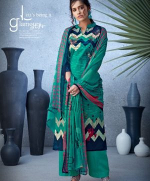 BELLIZA DESIGNER NAZARANA COTTON SUITS 402-009