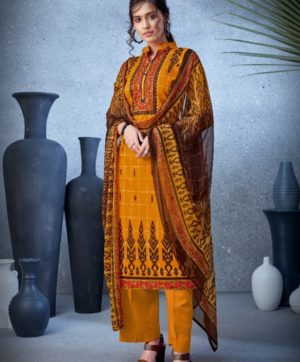 BELLIZA DESIGNER NAZARANA COTTON SUITS 402-010