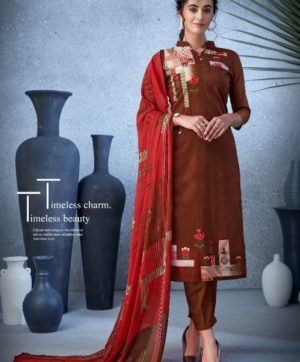 BELLIZA DESIGNER NAZARANA COTTON SUITS 402-008