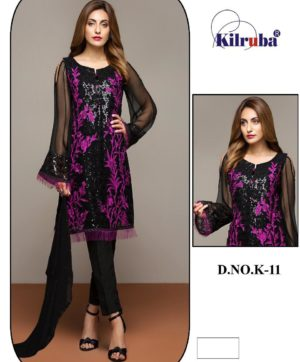 KILRUBA DESIGN NO K-11 SALWAR SUITS WHOLESALE