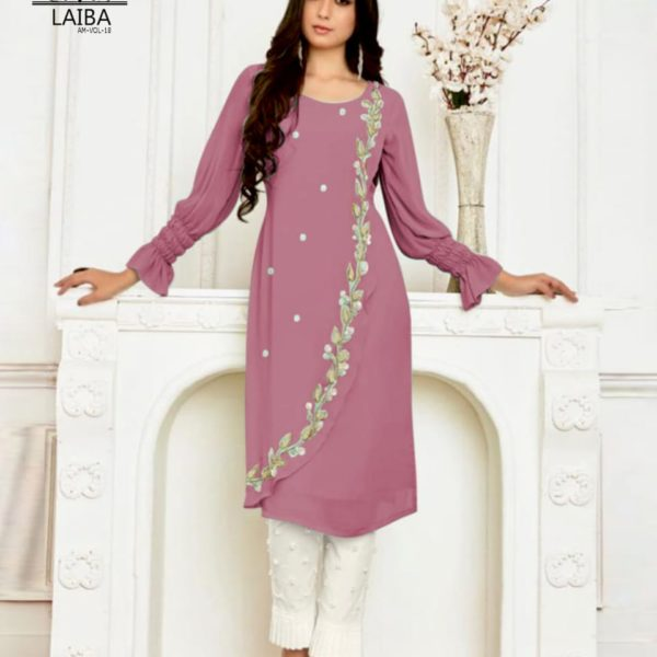 LAIBA AM VOL 18 LUXURY TUNIC WITH CIGARETTE PANTS DUSTY PINK