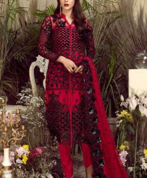 LATEST PAKISTANI RED SALWAR KAMEEZ SUIT