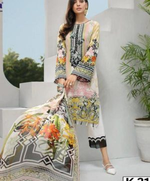 KILRUBA IRIS LAWN COLLECTION K 31 PAKISTANI SUITS