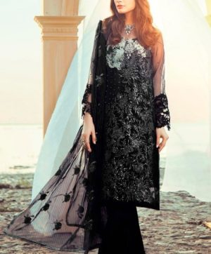 RAMSHA R 115 A BLACK PAKISTANI SUIT