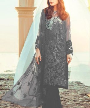 RAMSHA R 115 D GREY PAKISTANI SUIT