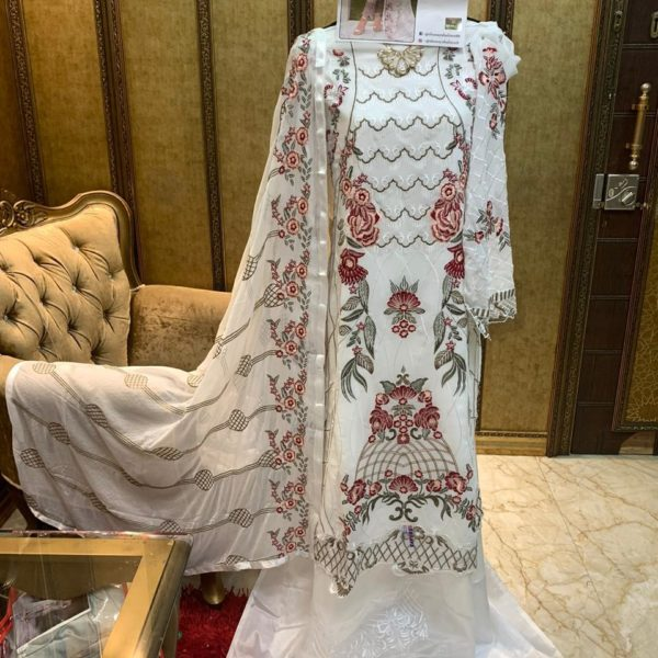 SHANAYA FASHION S 24 WHITE PAKISTANI SUITS WHOLESALER