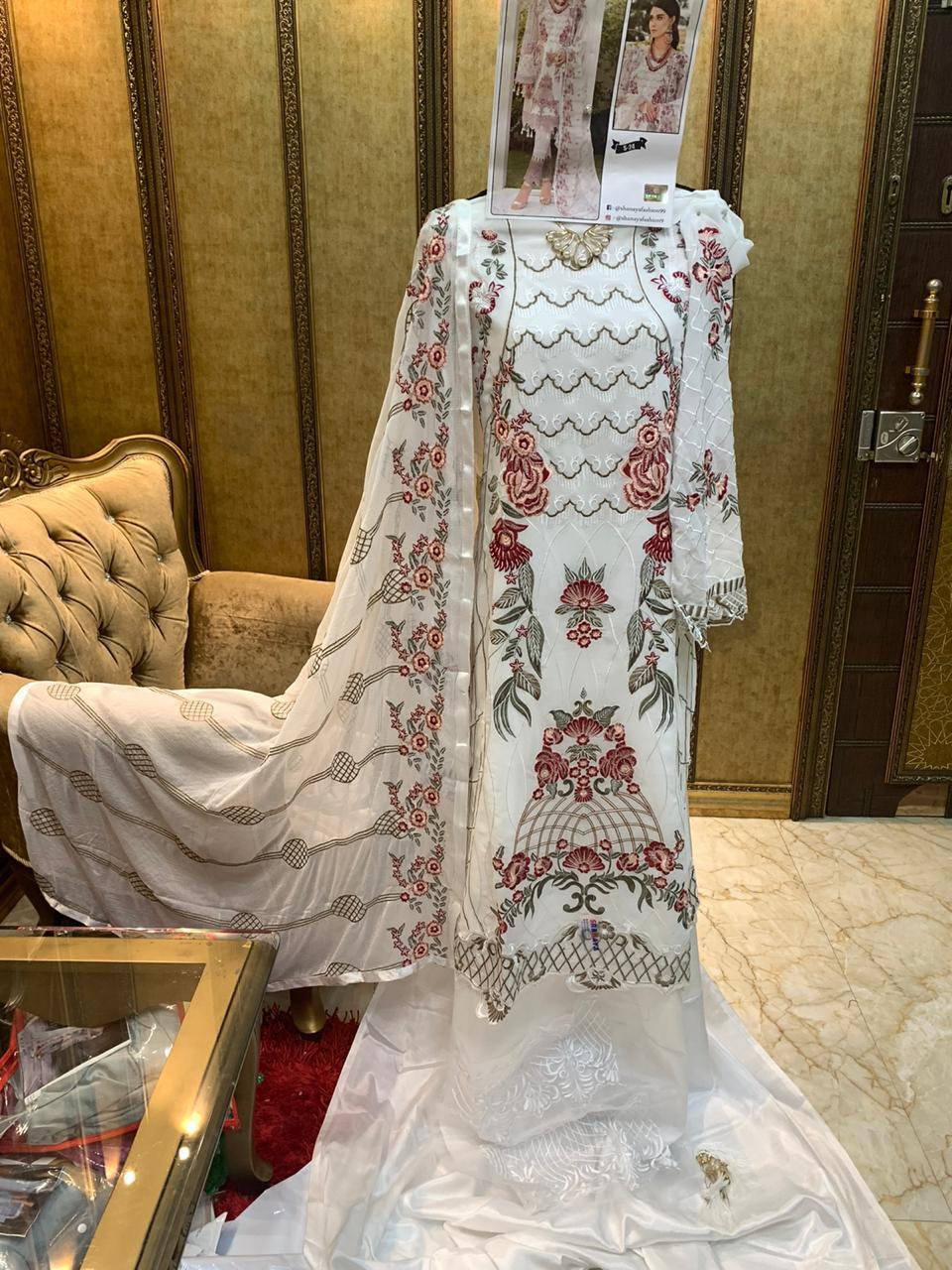 SHANAYA FASHION S 24 WHITE PAKISTANI SUITS WHOLESALER