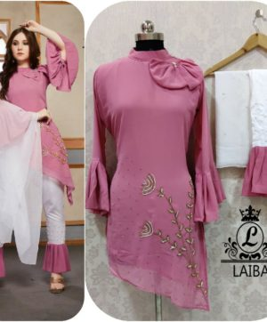 LAIBA AM VOL 30 DESIGNER WORK TUNICS PINK