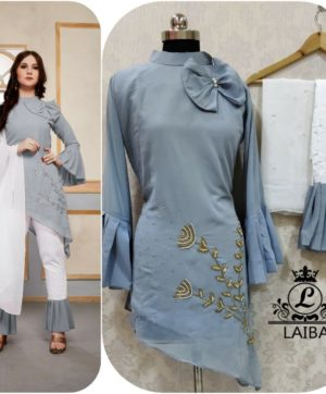 LAIBA AM VOL 30 DESIGNER WORK TUNICS GREY