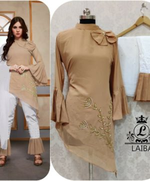 LAIBA AM VOL 30 DESIGNER WORK TUNICS BROWN