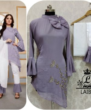 LAIBA AM VOL 30 DESIGNER WORK TUNICS PURPLE