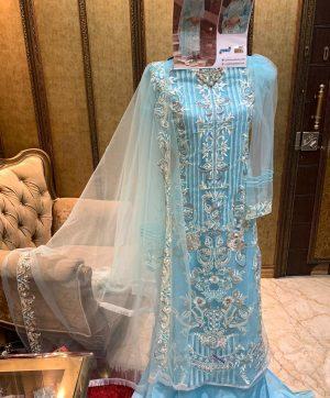SHANAYA FASHION S 18 BLUE PAKISTANI SUITS