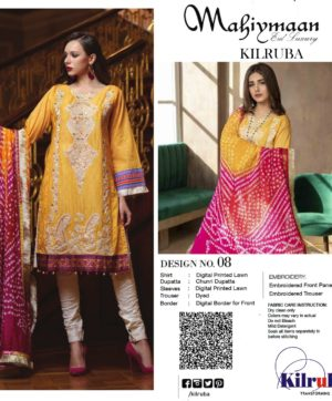 KILRUBA MAHIYMAAN LAWN SUIT EID LUXURY D NO 08