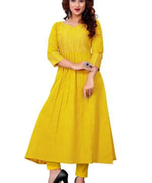 YELLOW COTTON KURTI MANUFACTURER PRICE BELOW 500