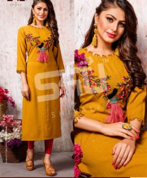 S4U COTTON CANDY VOL 4 CC 402 KURTI WHOLESALER