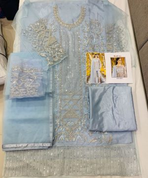 KHAYYIRA SUITS 1036 A BLUE PAKISTANI SUIT WHOLESALER