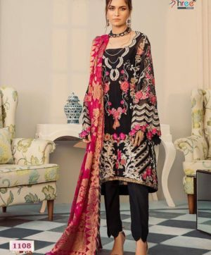 SHREE FABS ROUCHE LUXE 1108 IN SINGLE PIECE