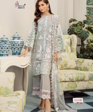 SHREE FABS ROUCHE LUXE 1110 IN SINGLE PIECE