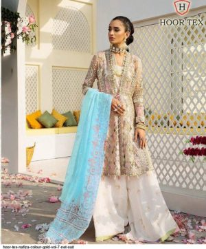 HOOR TEX NAFIZA COLOUR GOLD VOL 7 SINGLE PIECE