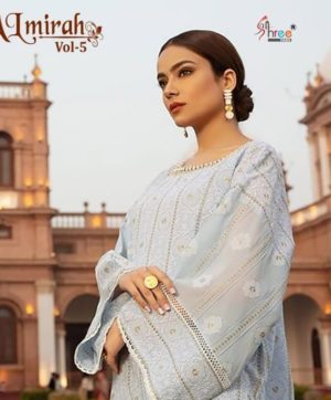 SHREE FABS ALMIRAH VOL 5 SALWAR SUITS 1156
