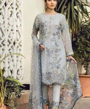 FEPIC 21005 GREY PAKISTANI SUITS WHOLESALER