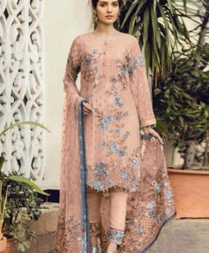 FEPIC 21005 PEACH PAKISTANI SUITS WHOLESALER