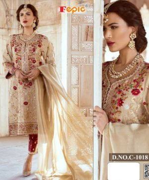 FEPIC ROSEMEEN 1018 C PAKISTANI SUITS WHOLESALER