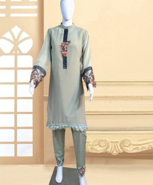 LUXURY 1108 C DESIGNER GREY TUNIC WHOLESALE
