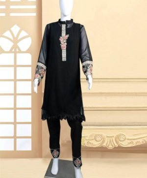 LUXURY 1108 A DESIGNER BLACK TUNIC WHOLESALE