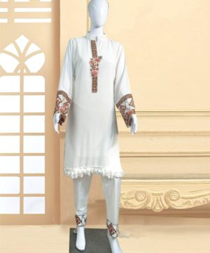 LUXURY 1108 B DESIGNER WHITE TUNIC WHOLESALE