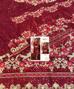 FEPIC DESIGN NO 55001-C PAKISTANI SUITS WHOLESALE