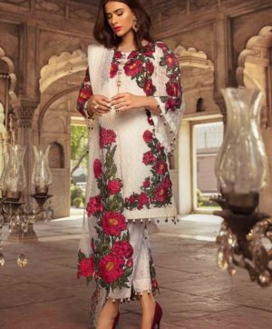 FEPIC SANOBER D NO 1005 WHITE PAKISTANI SUIT