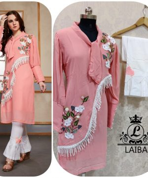 LAIBA AM VOL 32 DESIGNER TUNIC PEACH