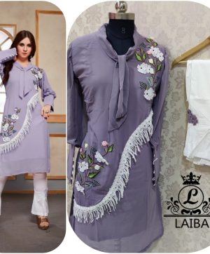 LAIBA AM VOL 32 DESIGNER TUNIC PURPLE