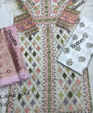 HOOR TEX 14001 D NAFIZA GOLD VOL 7 SINGLE PIECE