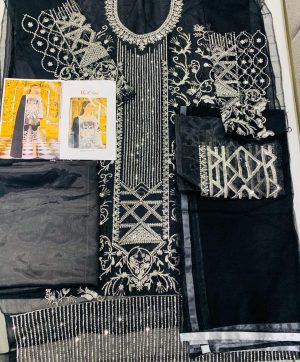 KHAYYIRA SUITS 1036 B BLACK PAKISTANI SUIT WHOLESALER