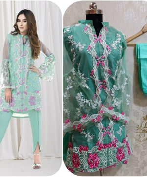 LAIBA AM VOL 35 DESIGNER TUNICS PISTA GREEN