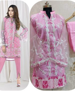 LAIBA AM VOL 35 DESIGNER TUNICS PINK