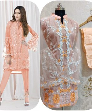 LAIBA AM VOL 35 DESIGNER TUNICS PEACH