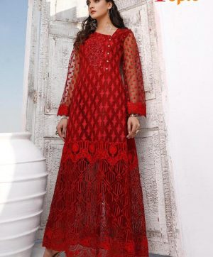 FEPIC ROSEMEEN 1024 C RED PAKISTANI SUIT