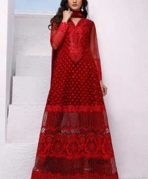 FEPIC ROSEMEEN 1025 C RED PAKISTANI SUIT