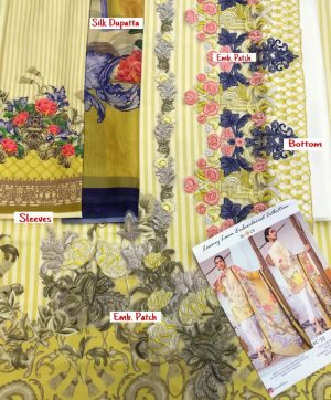 CS LUXURY LAWN C 33 WITH SILK DUPATTA WHOLESALE