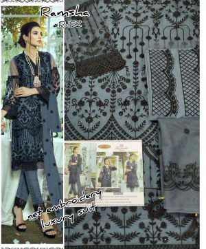 RAMSHA R 152 NET PAKISTANI SUITS WHOLESALE