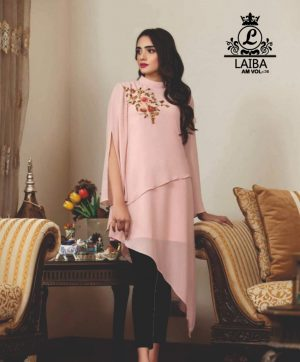 LAIBA DESIGNER TUNICS AM VOL 36 PEACH