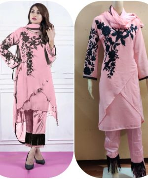 LAIBA DESIGNER TUNICS AM VOL 31 DUSTY PINK WHOLESALE