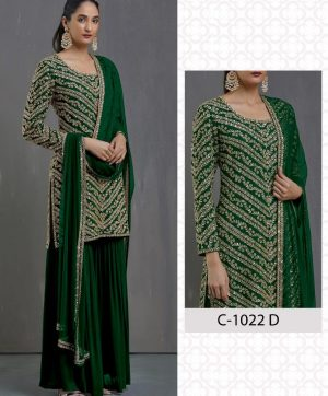 FEPIC ROSEMEEN 1022 C GREEN PAKISTANI SUITS